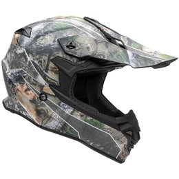 Vega VF1 VF-1 Skull Camo MX Motocross Offroad Riding Helmet With Visor Grey