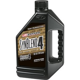 Maxima SYN Blend Maxum4 Synthetic Blend Motorcycle Engine Oil 10W-40 1 Gallon Unpainted