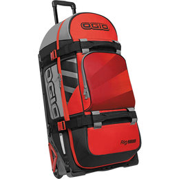 Ogio Rig 9800 Rolling Luggage Motorsports Wheeled Travel Track Gear Bag Red