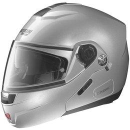 Platinum Silver Nolan Mens N91 N-com Modular Helmet 2014
