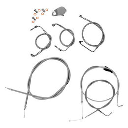Stainless Steel La Choppers Cable Brake Lines Beach For Harley Flh Flt 96-07