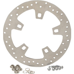 Drag Specialties Polished Brake Rotor Drilled Style For Harley Natural 1710-2404