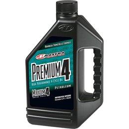 Maxima Premium4 Maxum4 High Performance Motorcycle Engine Oil 10W-40 1 Gallon Unpainted