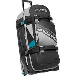 Ogio Rig 9800 Rolling Luggage Motorsports Wheeled Travel Track Gear Bag Turquoise