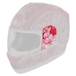Cherry Pop Icon Replacement Sideplates For Alliance Full Face Helmet Pair
