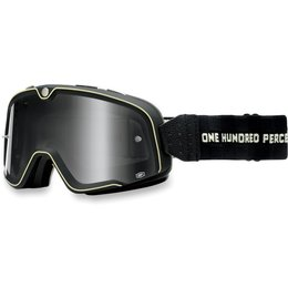 Black 100% Barstow Classic Street Goggles With Silver Lens 2014
