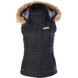 Divas Womens DSG Insulated Hooded Vest Black