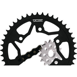 Vortex Sprocket/Chain Kit With Steel Rear Sprocket For Honda CBR600F3 CK2124 Black