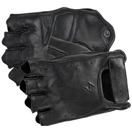 Black Scorpion Half Cut Fingerless Leather Gloves