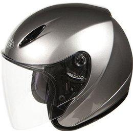 GMax GM17 SPC Open Face Helmet Silver