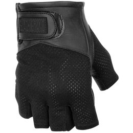 Black Brand Mens High Flow Shorty Fingerless Mesh Gloves