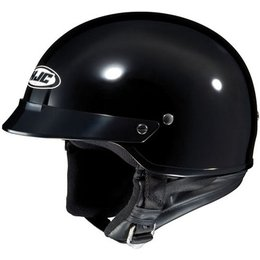 Solid Black Hjc Cs-2n Half Helmet Black