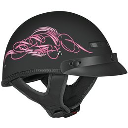Vega Womens XTA XT-A Scroll Half Helmet Pink