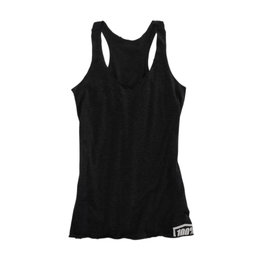 100% Womens Merit Cotton Blend Graphic Tank Top Black
