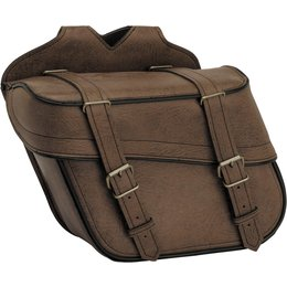 River Road Compact Quick Release Slant Saddlebags Brown Brown