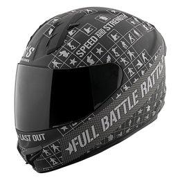 Black, Charcoal Speed & Strength Ss1400 Full Battle Rattle Full Face Helmet Black Charcoal