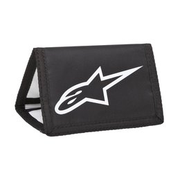 Black, White Alpinestars Mens Solid Tri-fold Velcro Wallet 2015 Black White