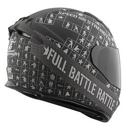 Black, Charcoal Speed & Strength Ss1400 Full Battle Rattle Full Helmet Black Charcoal