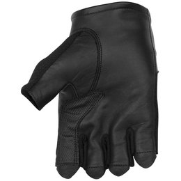 Black Brand Mens High Flow Shorty Fingerless Mesh Gloves Black