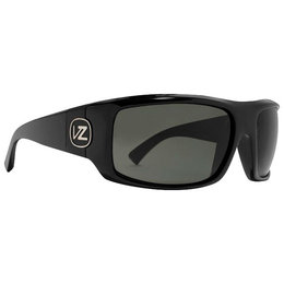 Black Gloss Vonzipper Clutch Sunglasses W Grey Lens