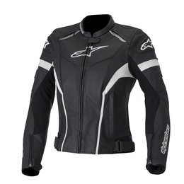 Black, White Alpinestars Womens Stella Gp Plus R Leather Jacket 2014 Eu 38 Black White