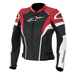 Black, White, Red Alpinestars Womens Stella Gp Plus R Leather Jacket 2014 Eu 38 Black White Red