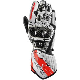Spidi Sport Mens Carbo Track Dovi Replica Leather Gloves White