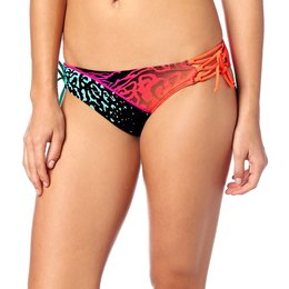 Fox Racing Womens Chargin Lace Up Side Tie Bikini Bottom Black