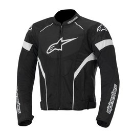 Black, White Alpinestars Mens T-gp Plus R Air Textile Jacket 2014 Black White