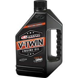 Maxima V-Twin Mineral All-Weather Engine Oil 50WT 1 Quart 30-07901 Unpainted