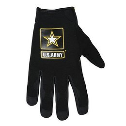 Black Power Trip Army Halo Textile Gloves