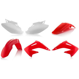 Acerbis Replacement Plastic Kit For Honda CR125 CR250 2004-2007 Red White Red