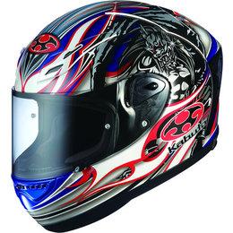 Blue Kabuto Mens Ff-5v Ff5v Akiyoshi Replica Full Face Helmet 2014