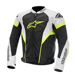 Black, White, Fluorescent Yellow Alpinestars Mens T-gp Plus R Air Textile Jacket 2014 Black White Fluor Ylw