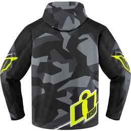 Icon Mens Merc Deployed Waterproof Armored Textile Riding Jacket Grey