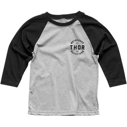 Thor Youth Boys Outfitters 3/4 Sleeve Raglan T-Shirt Black