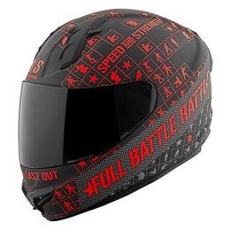 Black, Red Speed & Strength Ss1400 Full Battle Rattle Full Face Helmet Black Red