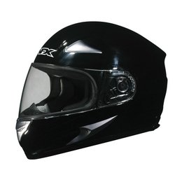 Black Solid Afx Mens Fx-90 Fx90 Full Face Helmet Black