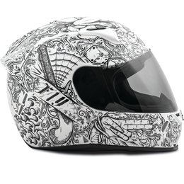 Fly Racing Revolt FS Ink N Needle Full Face Helmet White