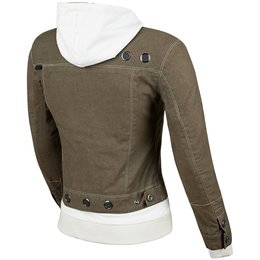Speed & Strength Womens Fast Times Armored Textile Denim Hoody Jacket Brown