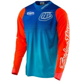 Troy Lee Designs Youth Boys GP Starburst Ventilated MX Motocross Riding Jersey Blue