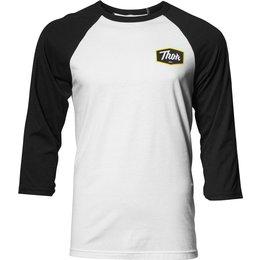Thor Mens Script 3/4 Sleeve Cotton Blend T-Shirt White