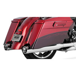 Vance & Hines Monster Round Catalytic Slip-On Dual Exhaust For Harley 16857