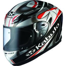 Black, Silver, Red Kabuto Mens Ff-5v Ff5v Viento Full Face Helmet 2014 Black Silver Red