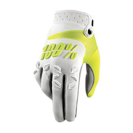 100% Mens Airmatic MX Motocross Offroad Riding Gloves White