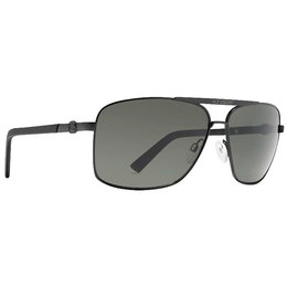 Black Satin Vonzipper Metal Stache Sunglasses Grey