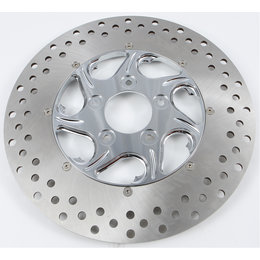 HardDrive Two Piece Brake Rotor Front Left Flow 11.5 Inch Chrome F2120CFL115-2P Silver