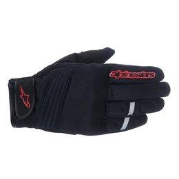 Black, Red Alpinestars Mens Asama Air Textile Gloves 2015 Black Red