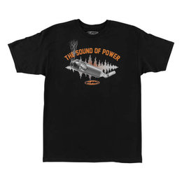 FMF Mens Sound Of Power Short Sleeve Cotton T-Shirt Black