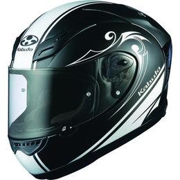Flat Black, White Kabuto Mens Ff-5v Ff5v Works Full Face Helmet 2014 Flat Black White
